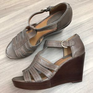 Trask Saydee Leather Wedges
